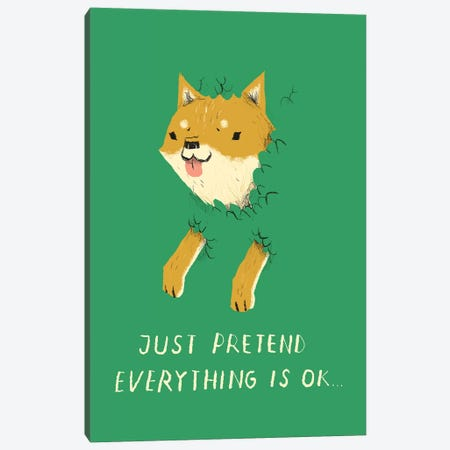 Bush Doge Canvas Print #LRO6} by Louis Roskosch Art Print