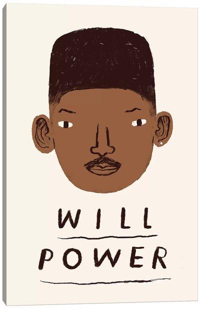 Will Power Canvas Art Print