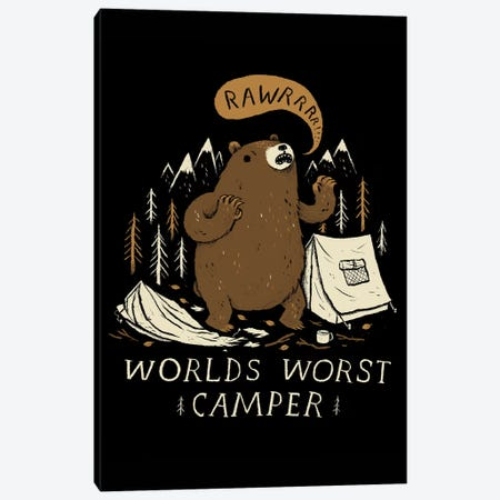 World's Worst Camper Canvas Print #LRO78} by Louis Roskosch Canvas Wall Art