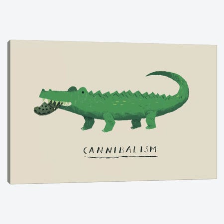 Cannibal Croc Canvas Print #LRO8} by Louis Roskosch Canvas Wall Art