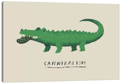 Cannibal Croc Canvas Art Print