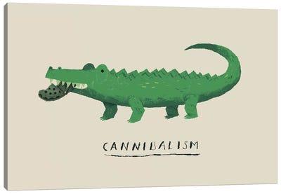 Cannibal Croc Canvas Art Print