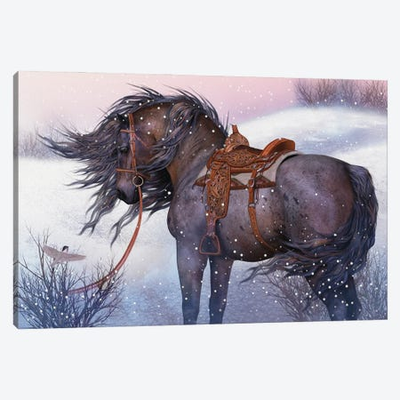 A Winters Encounter Canvas Print #LRP3} by Laurie Prindle Canvas Art