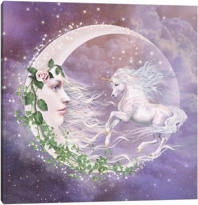 Moonicorn Canvas Art Print
