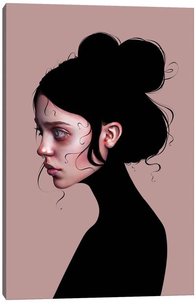The Staring Girl Canvas Art Print
