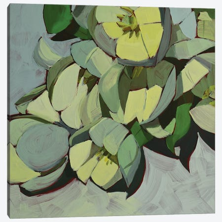 Paper White Canvas Print #LRS12} by Mónica Linares Canvas Artwork