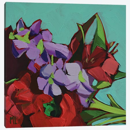 Red And Violet Canvas Print #LRS14} by Mónica Linares Canvas Print