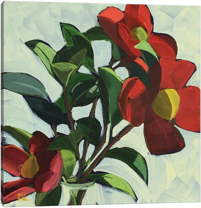Red Camellias II Canvas Art Print