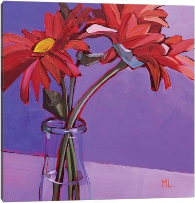 Red Gerberas Canvas Art Print
