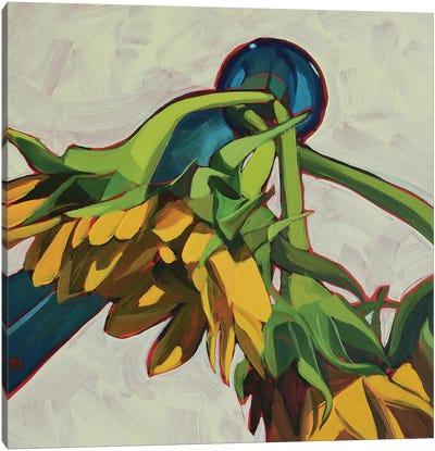 Three Sunflowers Canvas Art Print