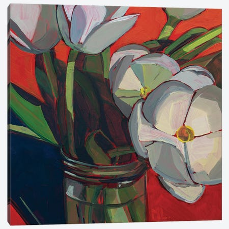 Tulips Sunbathing Canvas Print #LRS24} by Mónica Linares Canvas Wall Art