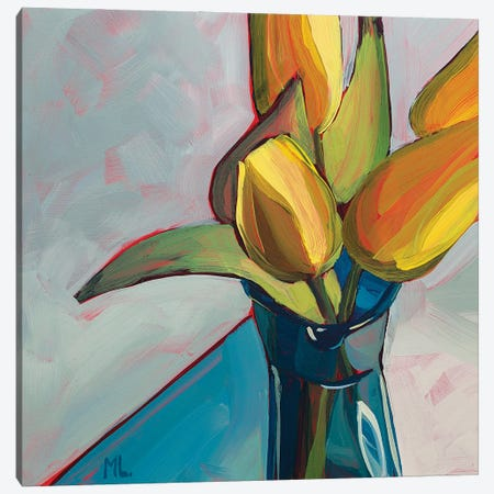 Yellow Tulips Canvas Print #LRS30} by Mónica Linares Canvas Artwork