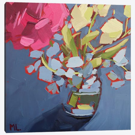 Big Pink Canvas Print #LRS35} by Mónica Linares Canvas Print