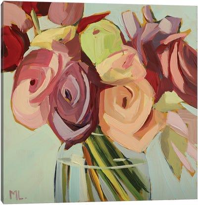 Bunch Of Ranunculus Canvas Art Print