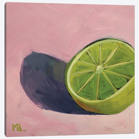 Lime On Pink Canvas Print #LRS38} by Mónica Linares Canvas Artwork