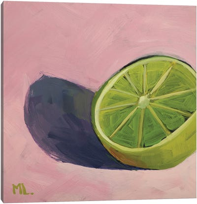 Lime On Pink Canvas Art Print