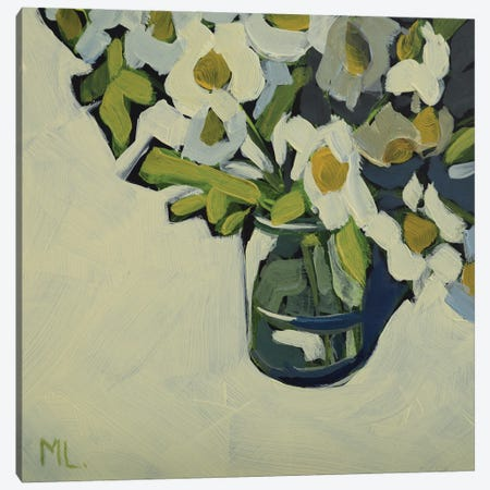 Mini Daisies Canvas Print #LRS39} by Mónica Linares Canvas Artwork