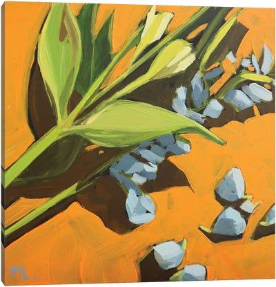 Orange Background Canvas Art Print