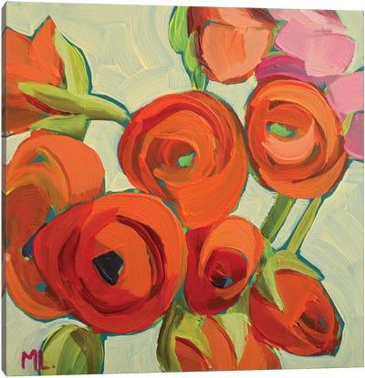 Orange Ranunculus Canvas Art Print
