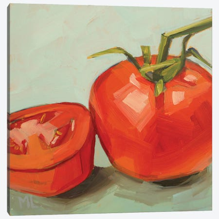 Tomato And A Half Canvas Print #LRS44} by Mónica Linares Canvas Wall Art