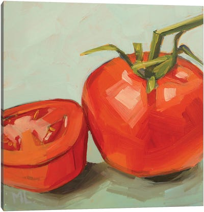 Tomato And A Half Canvas Art Print