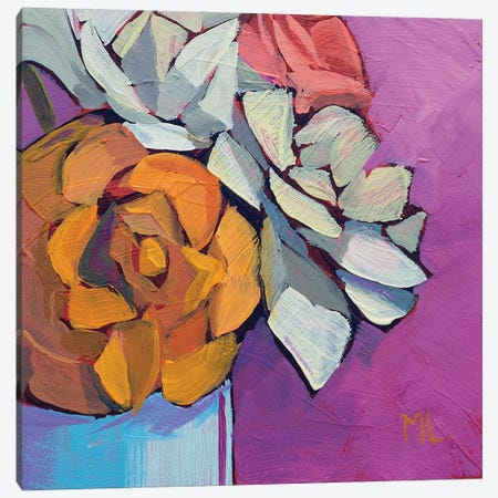 Fresh Roses Canvas Print #LRS9} by Mónica Linares Canvas Art Print