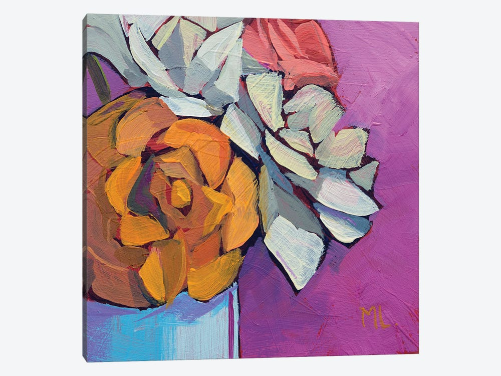 Fresh Roses by Mónica Linares 1-piece Canvas Art