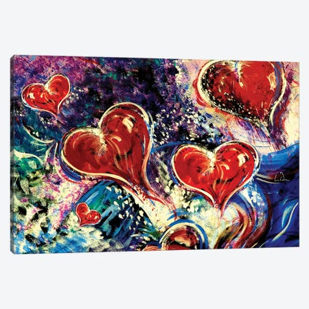 Hearts Adrift Canvas Print #LRU16} by Doug LaRue Canvas Art Print
