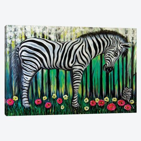 Little Zebra Canvas Print #LRU17} by Doug LaRue Canvas Art Print