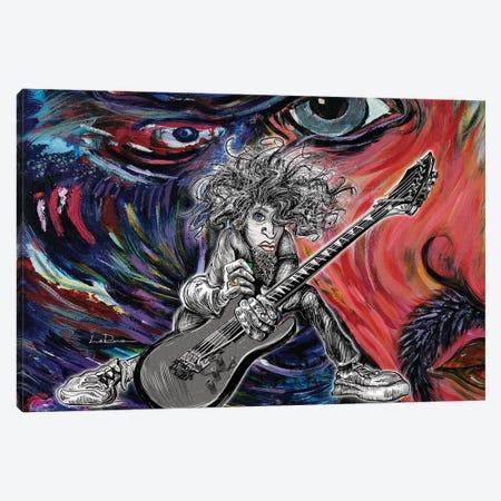Wild Hair Guitar Canvas Print #LRU38} by Doug LaRue Canvas Wall Art