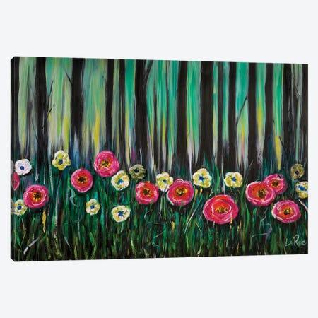 Zebra Flowers Canvas Print #LRU39} by Doug LaRue Canvas Wall Art