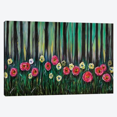 Zebra Flowers II Canvas Print #LRU40} by Doug LaRue Canvas Print