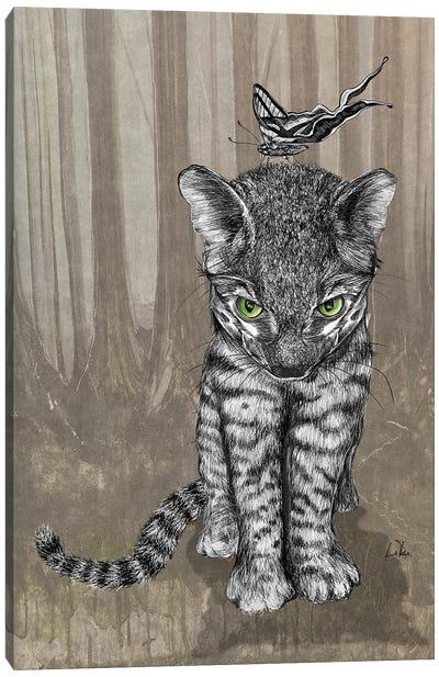 Jungle Kitty Canvas Art Print