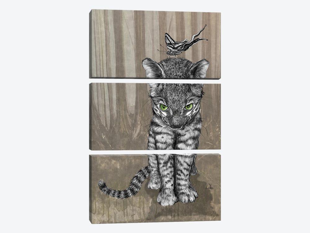 Jungle Kitty by Doug LaRue 3-piece Canvas Wall Art