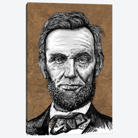 Abraham Lincoln Canvas Print #LRU43} by Doug LaRue Canvas Art Print