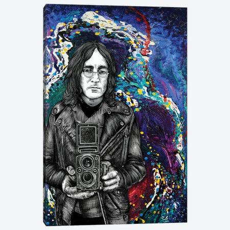 John Lennon Twin Lens Canvas Print #LRU44} by Doug LaRue Canvas Art
