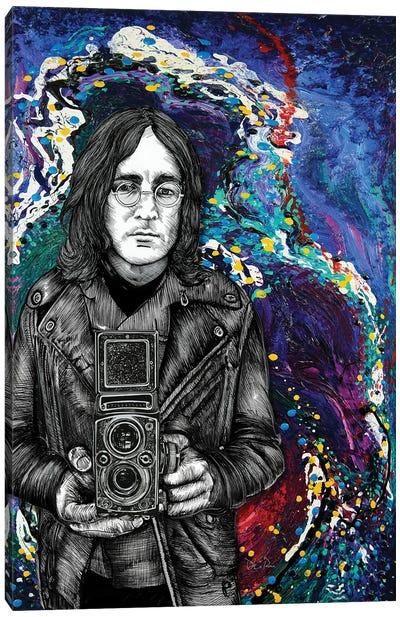 John Lennon Twin Lens Canvas Art Print
