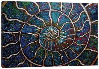 Ammonite 19C Canvas Art Print