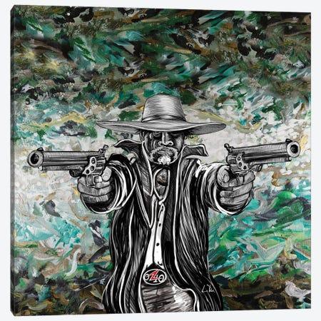Bad Hombre Square Canvas Print #LRU51} by Doug LaRue Canvas Artwork