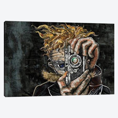 Retro Selfie Canvas Print #LRU55} by Doug LaRue Art Print