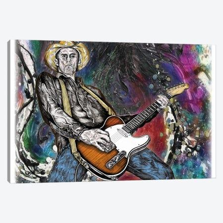 Country Rock Guitar Canvas Print #LRU60} by Doug LaRue Canvas Art Print