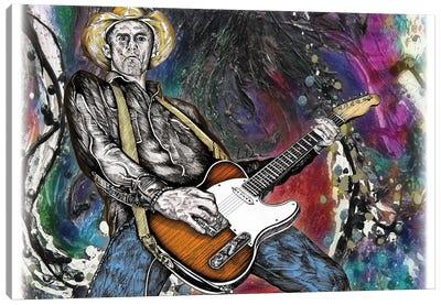 Country Rock Guitar Canvas Art Print