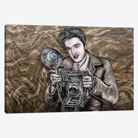 Elvis Presley Camera King Canvas Print #LRU63} by Doug LaRue Art Print