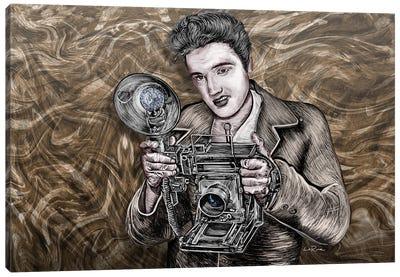 Elvis Presley Camera King Canvas Art Print