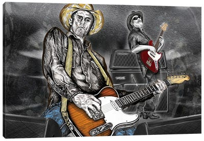 Country Rock Duo Canvas Art Print