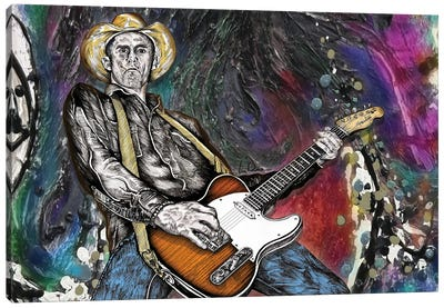 Country Rock Guitar 2 Canvas Art Print