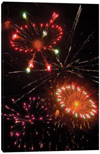 Fireworks X Canvas Art Print