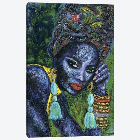 Blue Flame Canvas Print #LRV10} by Larisa Lavrova Canvas Print