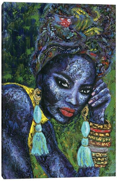 Blue Flame Canvas Art Print