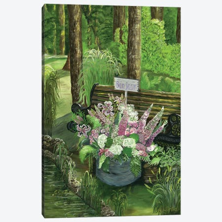 Bonjour Calm Morning Canvas Print #LRV11} by Larisa Lavrova Art Print
